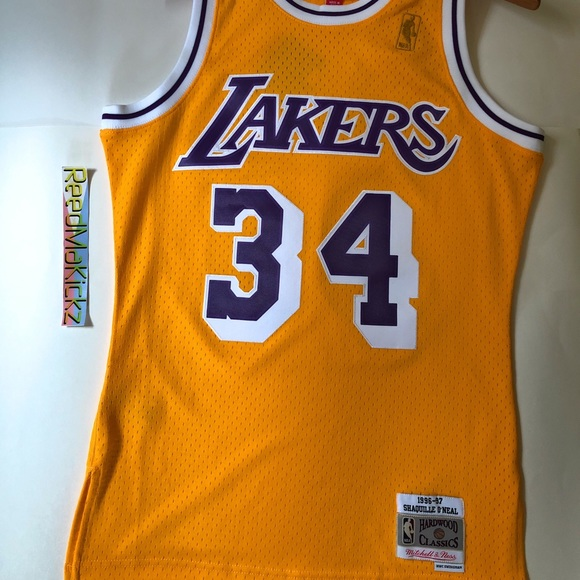 brand new 639a5 b053f Mitchell Ness Shaq O'neal Lakers 96'-97 HWC Jersey NWT